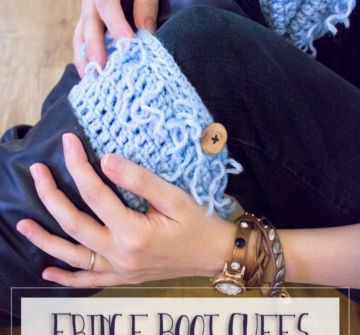 Fringe Boot Cuffs Free Crochet Pattern