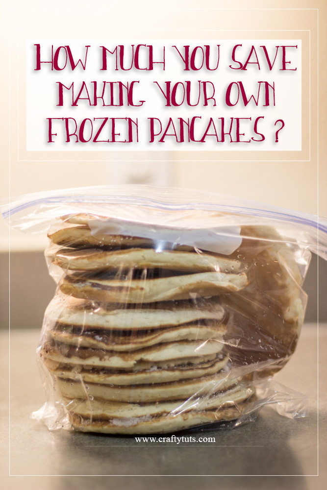 How much you save making your own frozen pancakes: I made the math so you can just read and choose if making your own frozen pancakes is worth it or not.