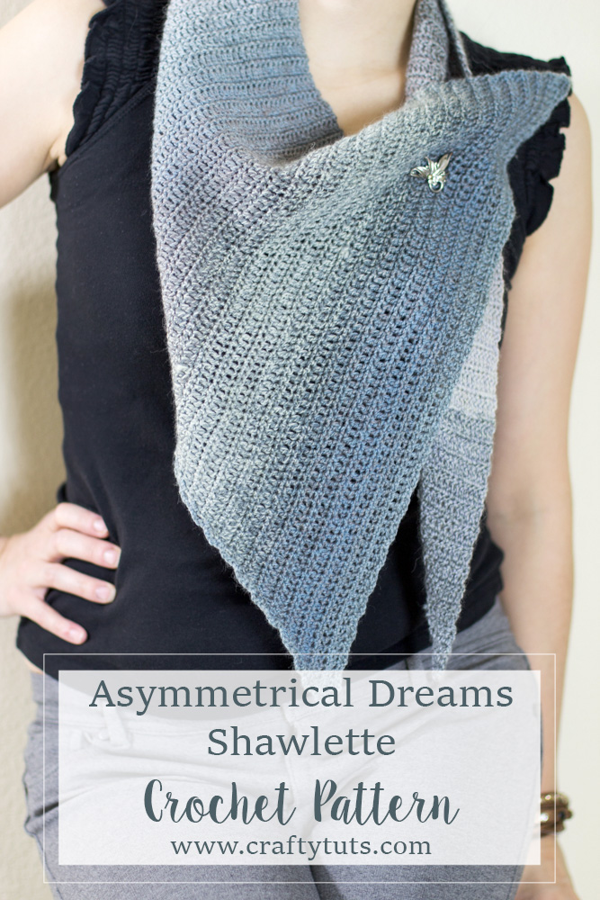 Asymmetrical dreams shawl crochet pattern