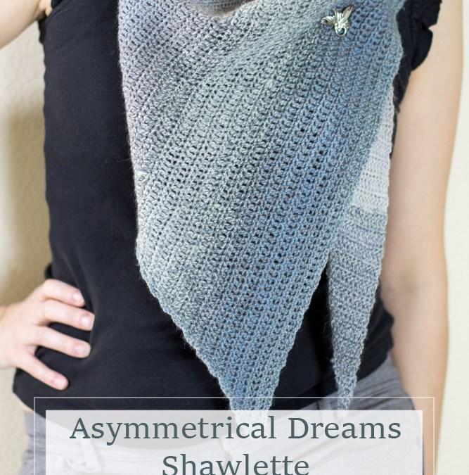 Asymmetrical Dreams Shawlette Crochet Pattern