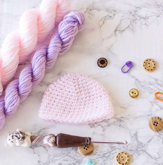Basic Preemie Crochet Hat Free Pattern