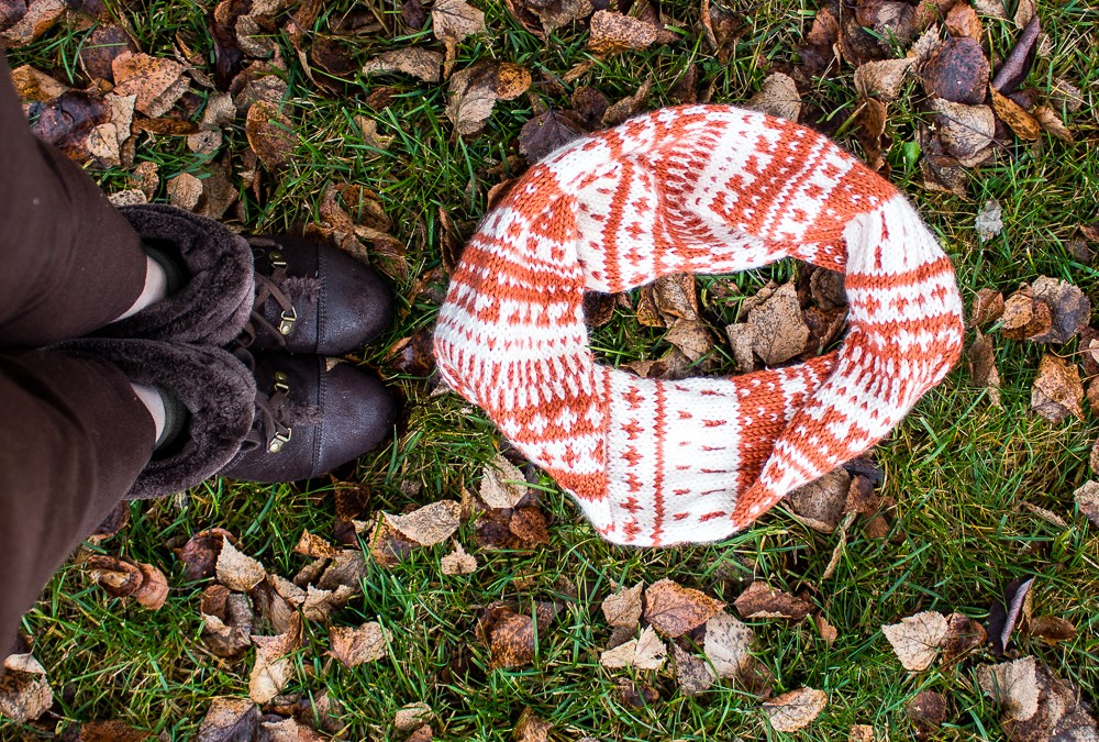 Pumpkin Pie Cowl Knitting Pattern