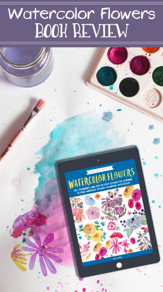 Watercolor flowers book review