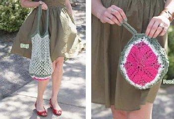 Knitted Melon Pocket Bag