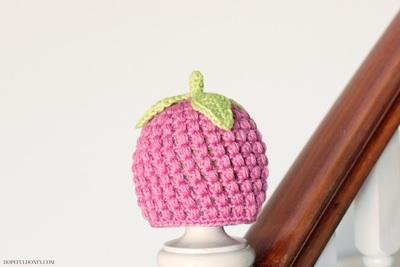Raspberry Baby Hat Crochet Pattern