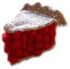 Knitted Cherry Pie