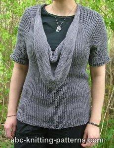 Summer Night Cowl Sweater