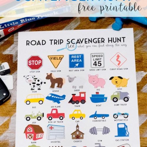 Road Trip Scavenger Hunt Free Printable