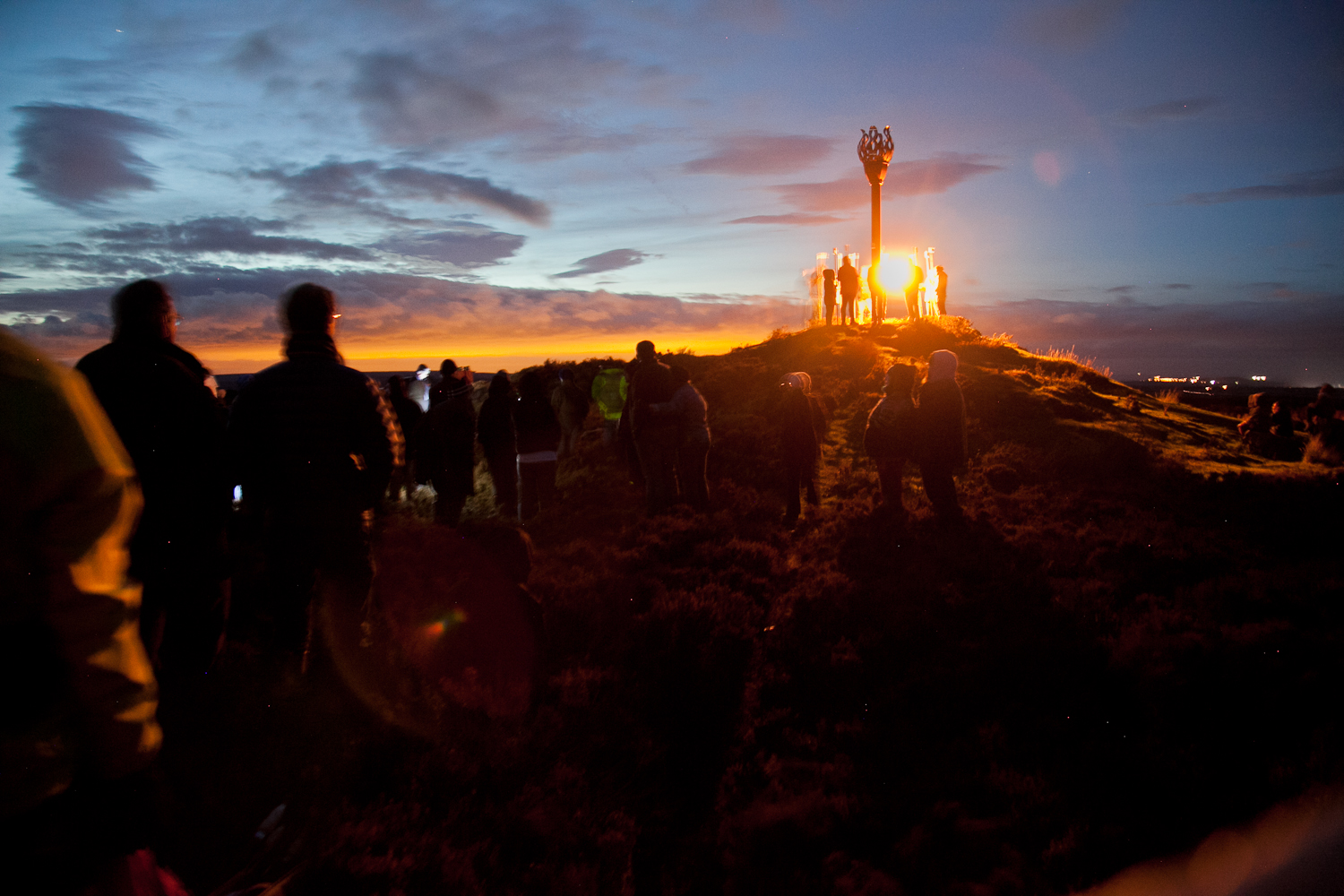 What  just 25 to light historic Danby Beacon  Crag