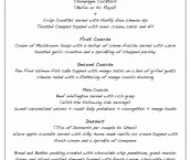 traditional english dinner party menu