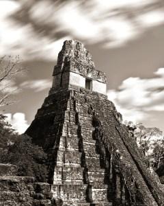 Tikal Templo I_02 BW, by professional photographer Craig Denis