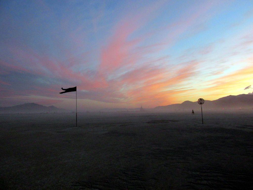 Burning Man Desert at Dusk