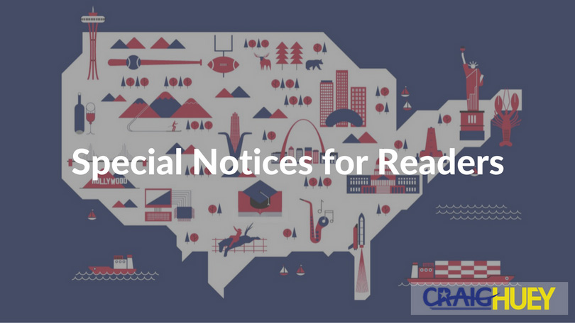 Special Notices for Readers