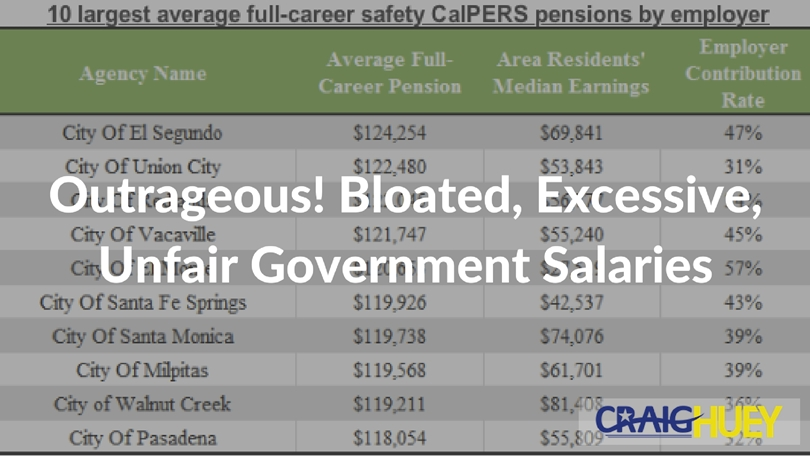 Outrageous! Bloated, Excessive, Unfair Government Salaries