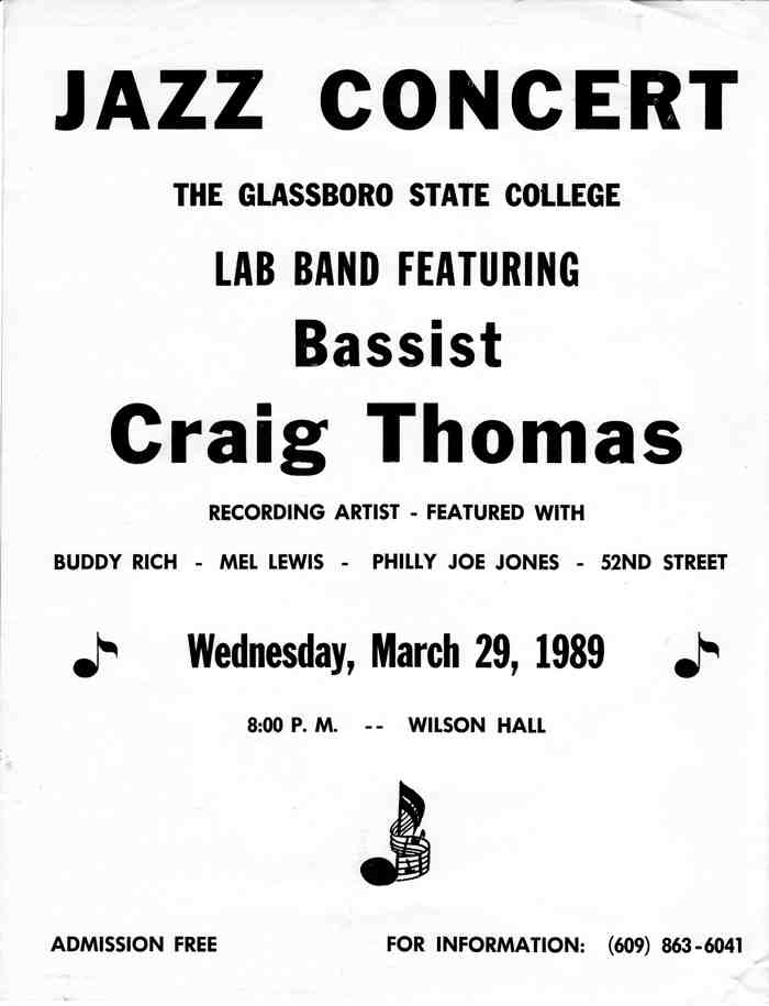 Craig Thomas-Jazz Bassist Educator