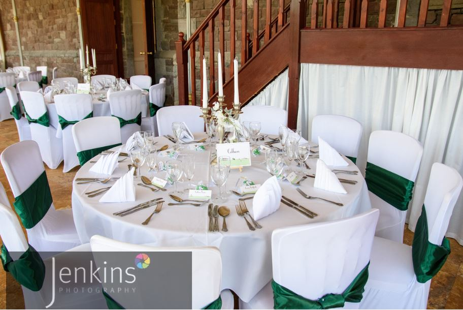wedding chair covers and bows south wales rocking clearance venue craig y nos castle in dark green venues chairs conservatory