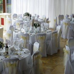 Wedding Chair Covers Swansea How To Make Bean Bag Filling Conservatory Breakfast Room 24 Weddings In Wales At Craig Y Nos Castle Venue Pale Yellow Ribboned