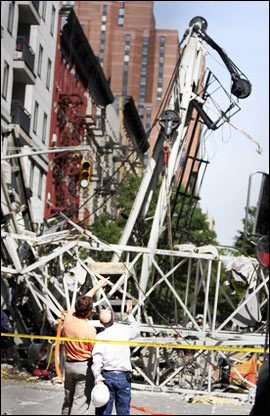 crane accident investigation in New York