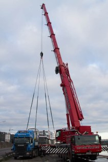East Cork Crane Hire working at Penrose Quay