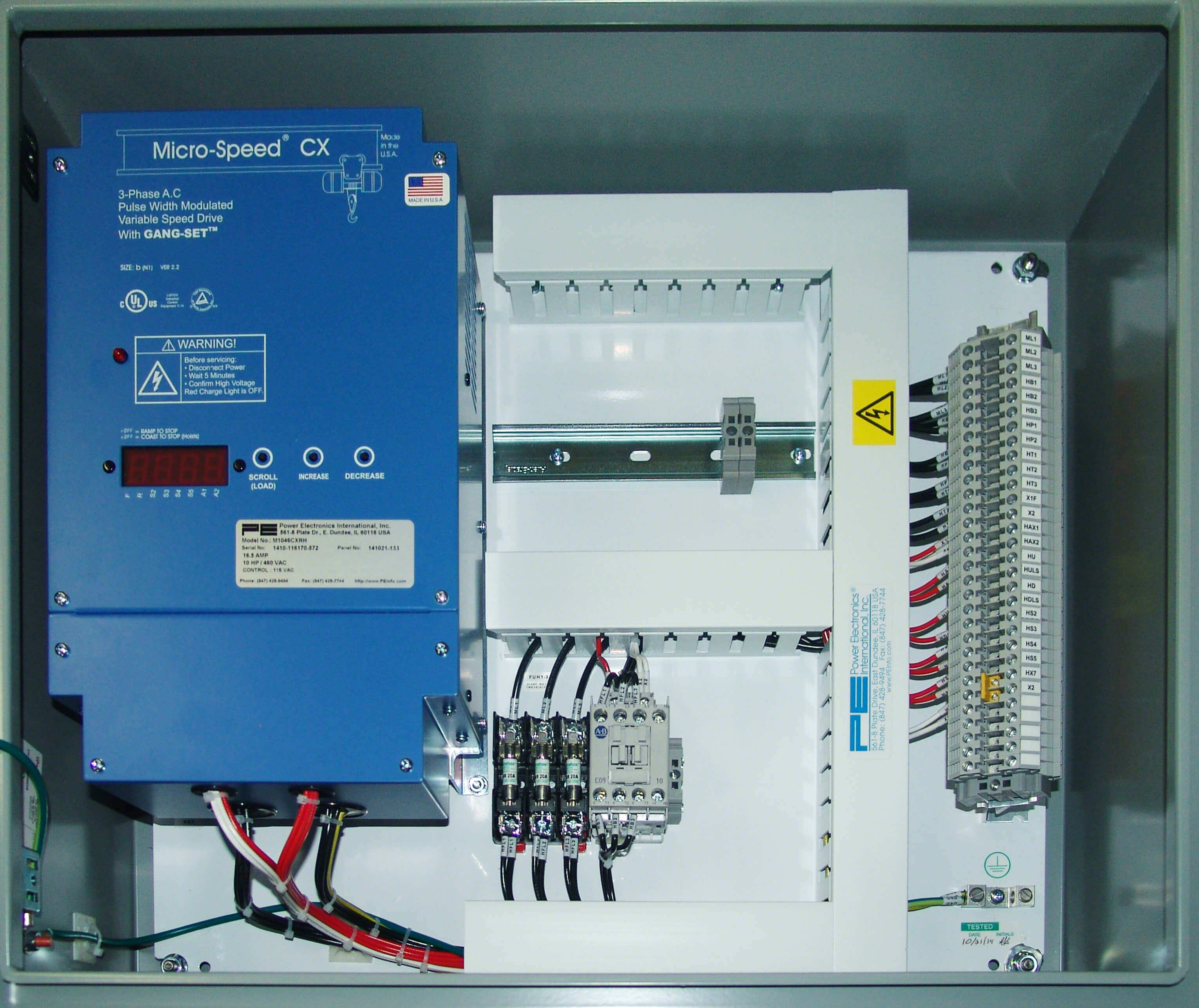 vfd control wiring diagram the glands in neck and throat power electronics hoist panels crane repair company