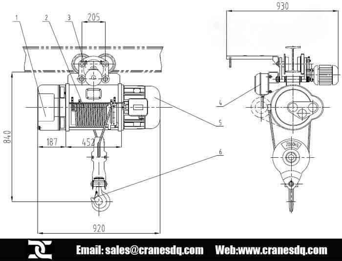 Hoist Wiring Diagram 5 Sd Electric Chain Hoist Control