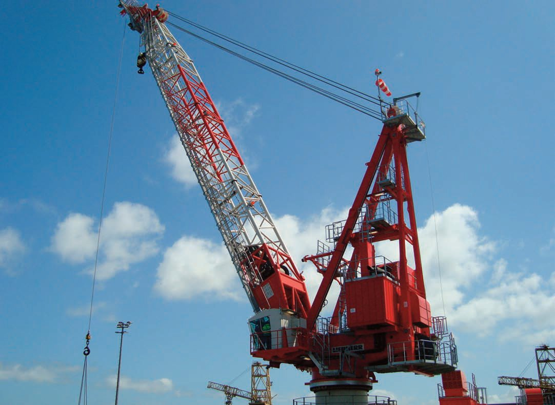 Pedestal Cranes Such As Liebherr Bos Along With