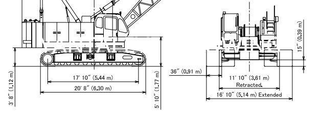Track Pads for KOBELCO CK1000-II 100 Ton Lattice Boom
