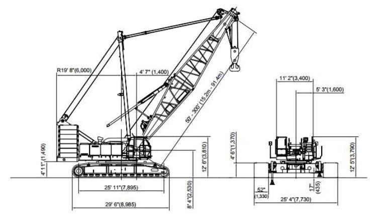 Track Pads For KOBELCO CK2500 250 Ton Lattice Boom Crawler