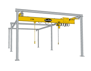 Free Standing Underhung Runway and Bridge Crane