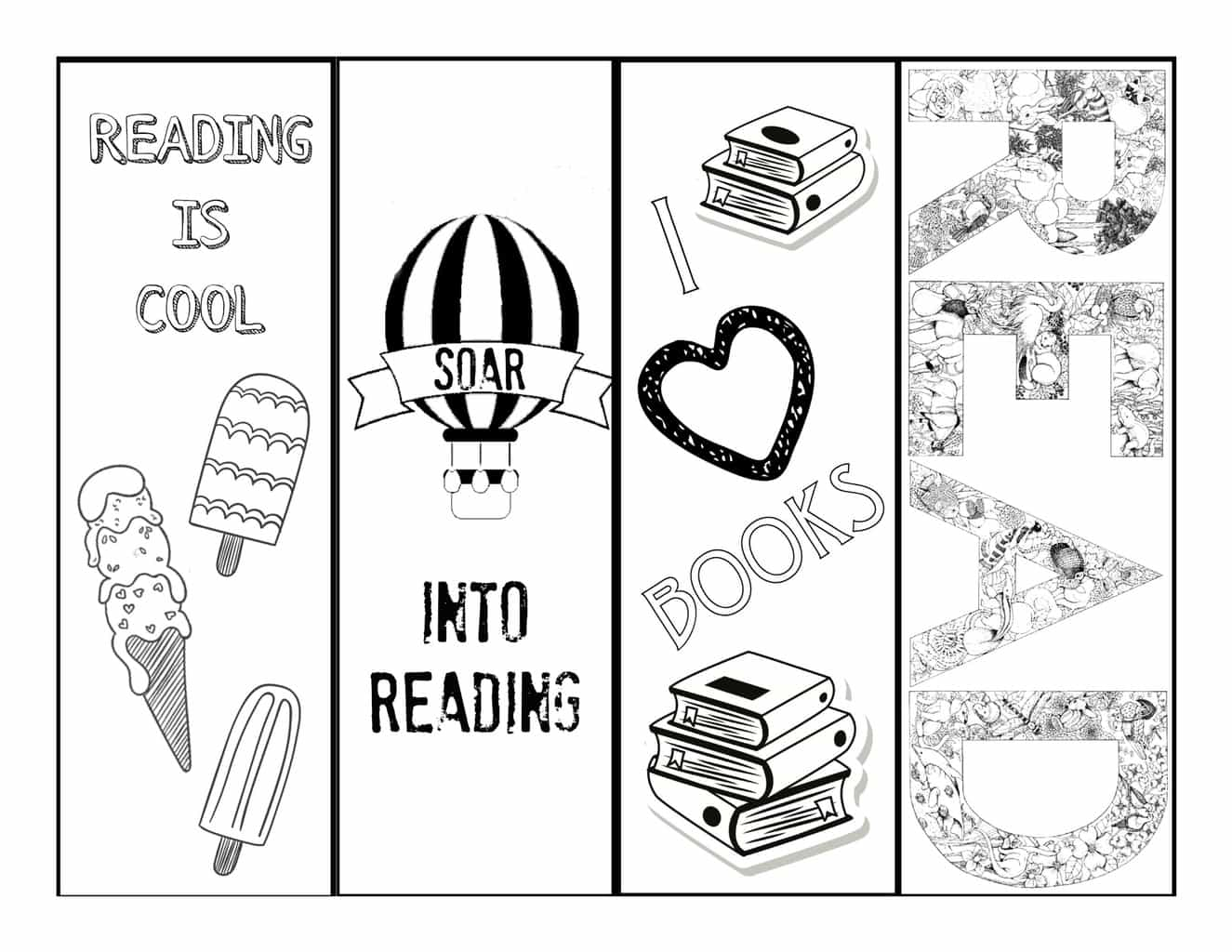 Summer Reading Bookmarks B Amp W Cranial Hiccups