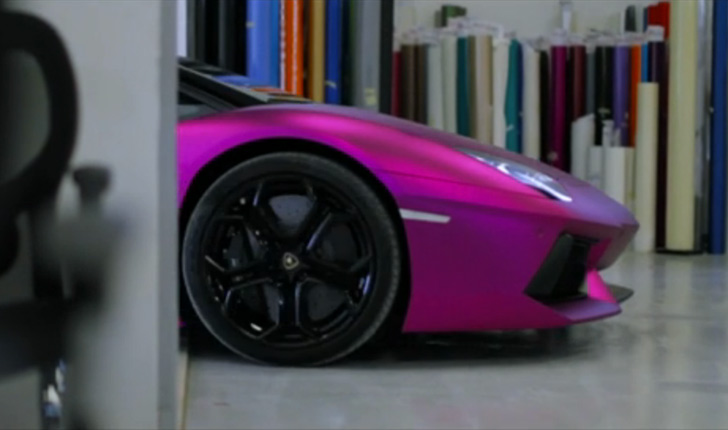 Lamborghini Aventador Purple Chrome Matte Video