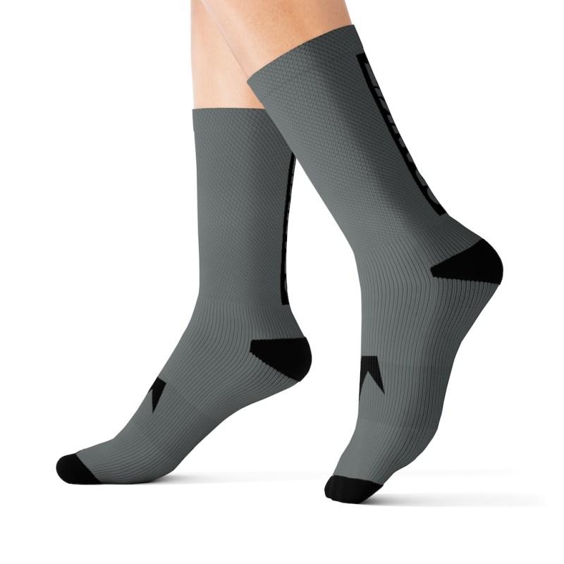 Block Sock Grey