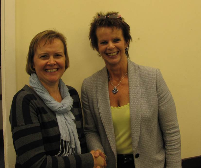 Anne Milton offers support to Liz Townsend Leader of Cranleigh's Civic Society