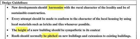 Cranleigh Design Statement 2008 concerning building height
