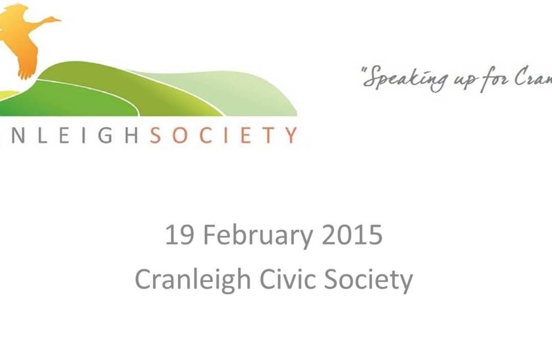 Cranleigh Society Public Meeting