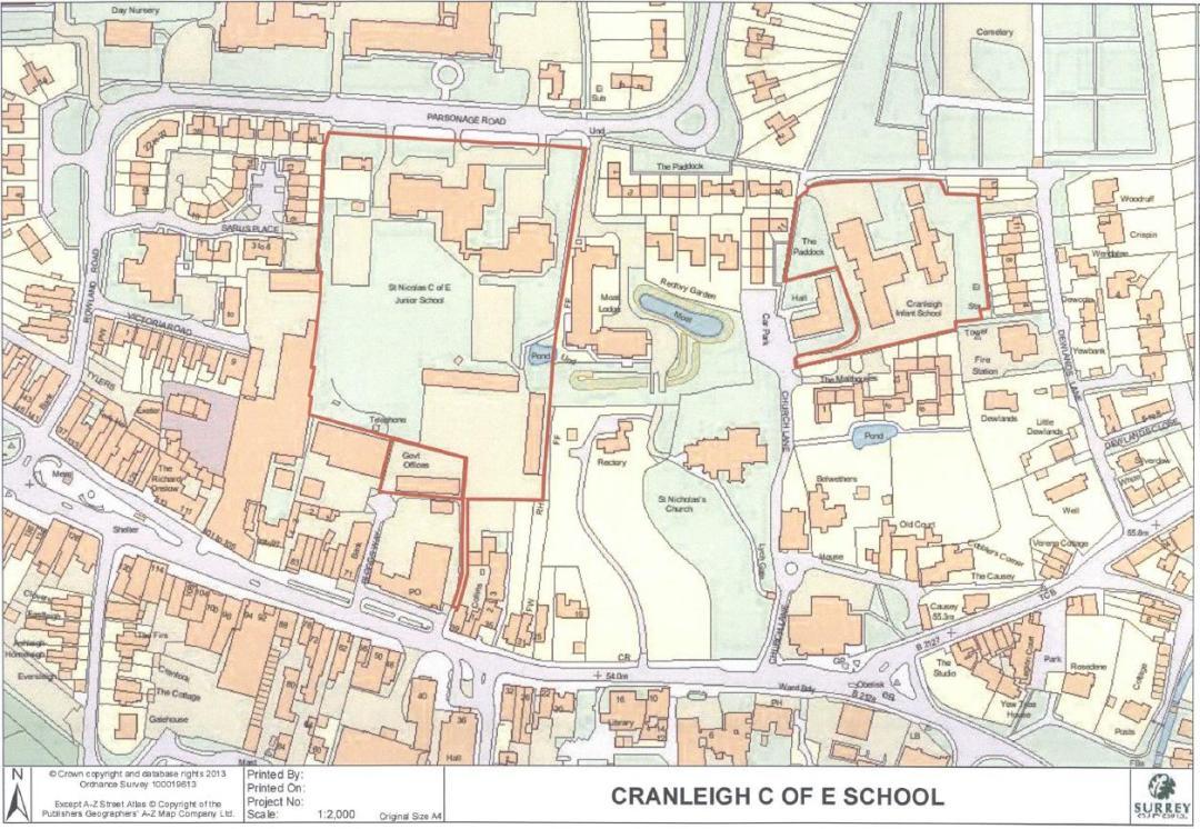 Existing Cranleigh Primary Schools sites