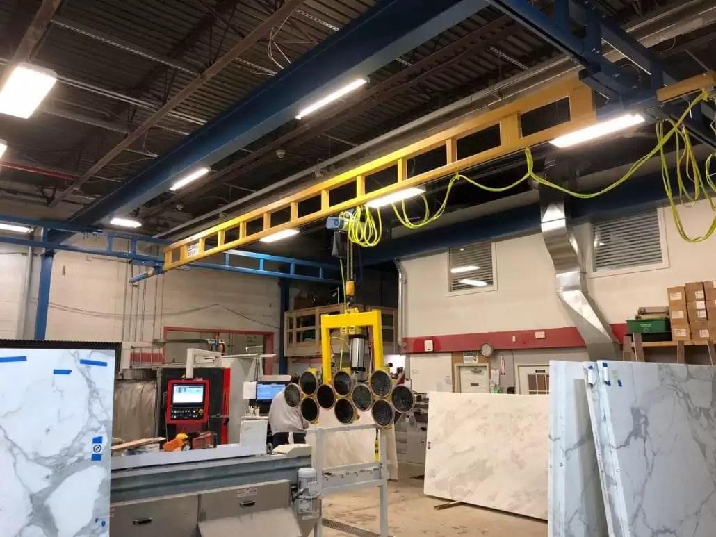 Gorbel Workstation Crane System For Ultimate Granite Of