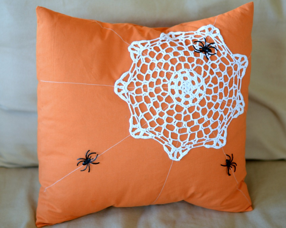 Spider Web Doily Pillow  Crap Ive Made