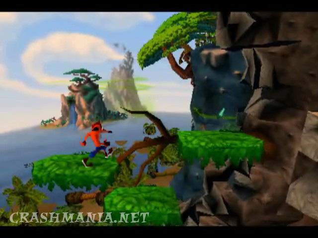 Crash Bandicoot Cliff Level Crash Mania