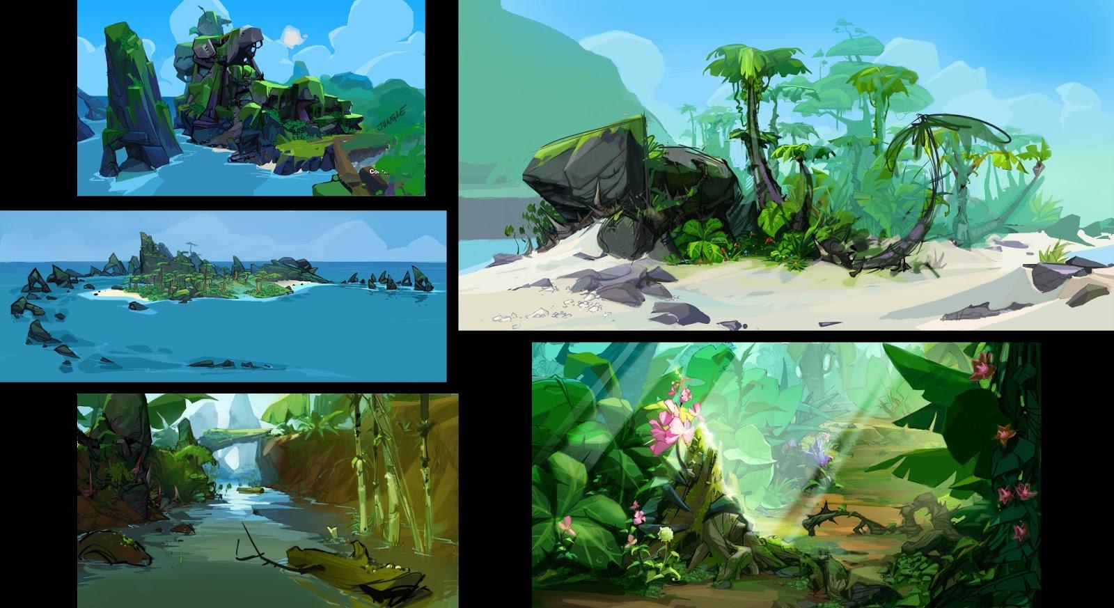 Ocean Animals Wallpaper Crash Landed Concept Art Islands Crash Mania