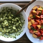 JALAPEÑO PESTO GNOCCHI WITH TOMATO AND NECTARINE SALAD