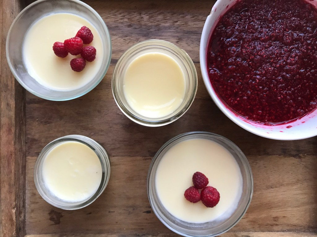Crate Cooking Summer Easy Basic Simple Recipes Ingredients Cream Raspberry Compote Possets