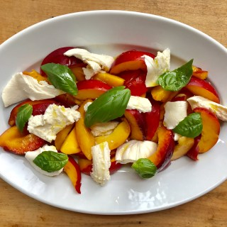 Crate cooking summer simple ingredients 3 way recipes nectarine mozzarella salad basil