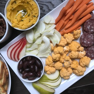 Crate Cooking Fall Autumn appetizers Easy Basic Simple Recipes Ingredients Seasonal board salami olives cornichons carrots cauliflower