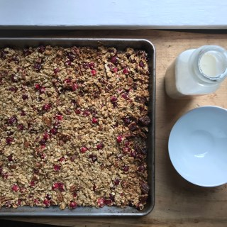 Crate Cooking Fall Autumn Easy Basic Simple Recipes Ingredients Thanksgiving Holidays Christmas December Granola Cranberries pecans breakfast brunch