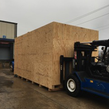large custom crate