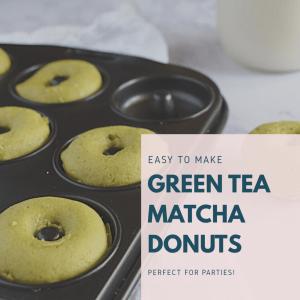 Green Tea Matcha Donuts