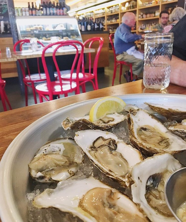 Try Oysters at The Market Italian Village