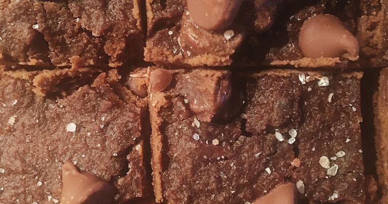 Gluten Free Double Chocolate Brownies with Sea Salt