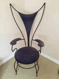 Rare Mid-Century Atomic Iron Chair